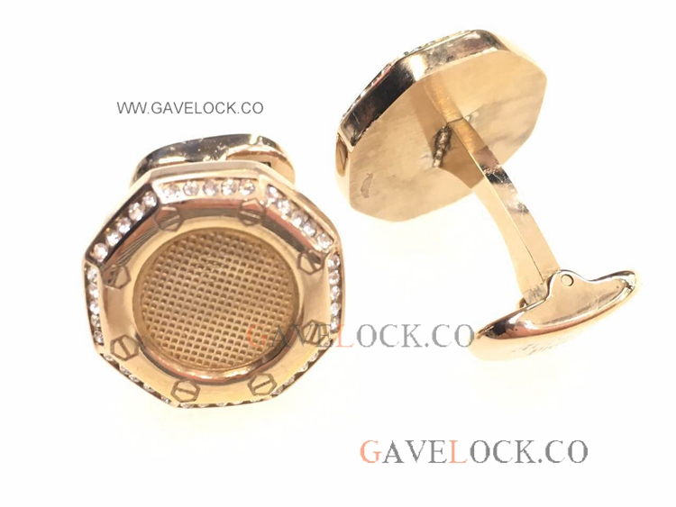 AAA Replica Audemars Piguet Cufflinks Rose Gold With Diamond